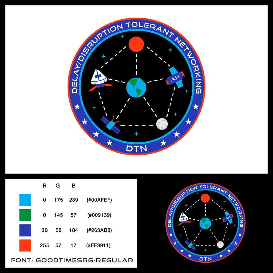 Contest Entry #194 for NASA Challenge: Design a Logo for Delay/Disruption Tolerant Networking (DTN) Project