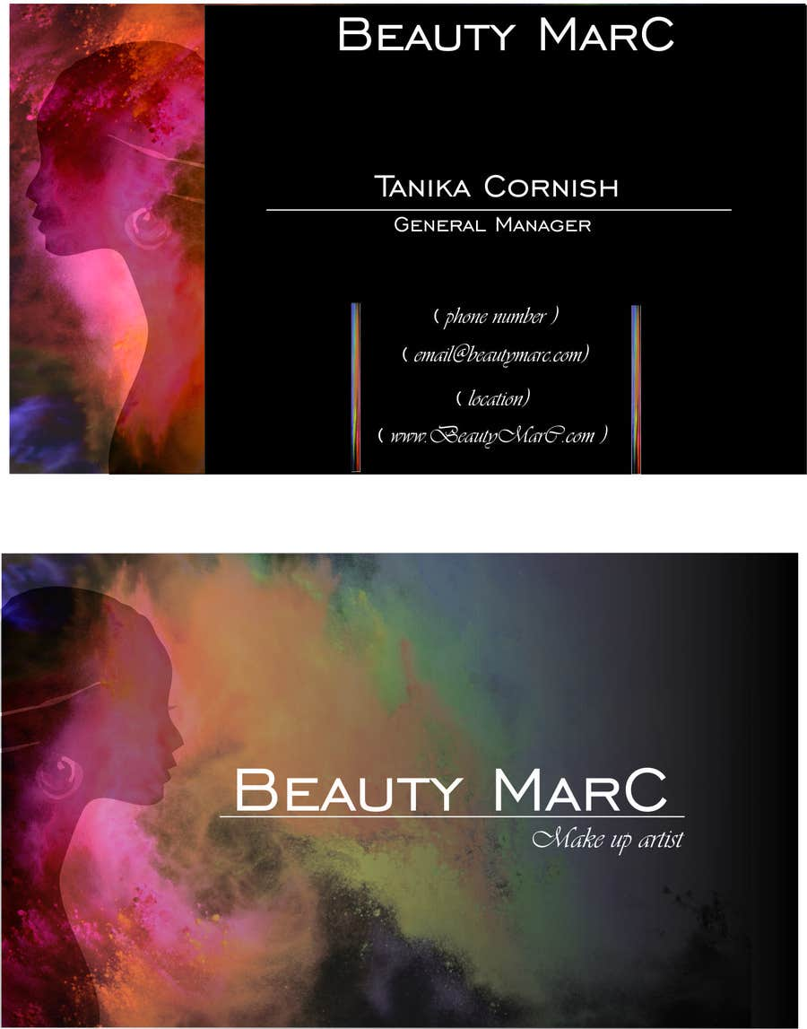 Entry #32 by vrexcellina for Makeup Artist Business Card Design ...