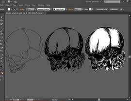 #7 untuk Design a Skull for t-shirt design oleh secondsyndicate