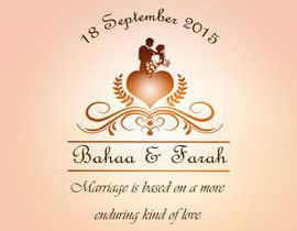 #23 untuk Design a Logo for Wedding Card/FB event (2 Names logo) oleh malathy27