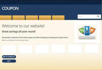 raveendrawm tarafından Design a Website Mockup for a Promo/Discount Site için no 12