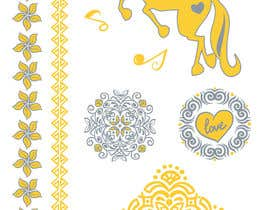asselnor tarafından Design, illustrate or art work - Metallic temporary tattoo flash sheets Unicorns and love için no 39