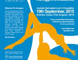 #7 untuk Design a Flyer for An Acrobatic Gymnastics Invitational Competition oleh Tommy50