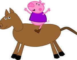 #11 untuk I want a cartoon similar to Peppa Pig(not the same, i dont want to infringe copyright) on a Hourse oleh viango