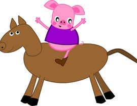 #12 untuk I want a cartoon similar to Peppa Pig(not the same, i dont want to infringe copyright) on a Hourse oleh viango