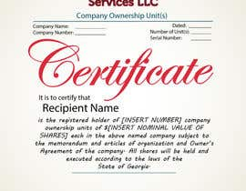 #40 untuk Design Company Ownership Certificate (Like a Corporate Shareholder Certificate) oleh Bulfire