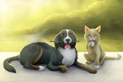 #32 untuk Cat and Dog Cartoon oleh Nihadricci