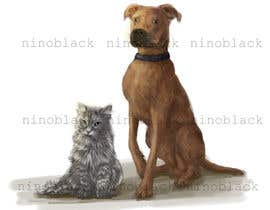 #7 untuk Cat and Dog Cartoon oleh ninoblackwhite
