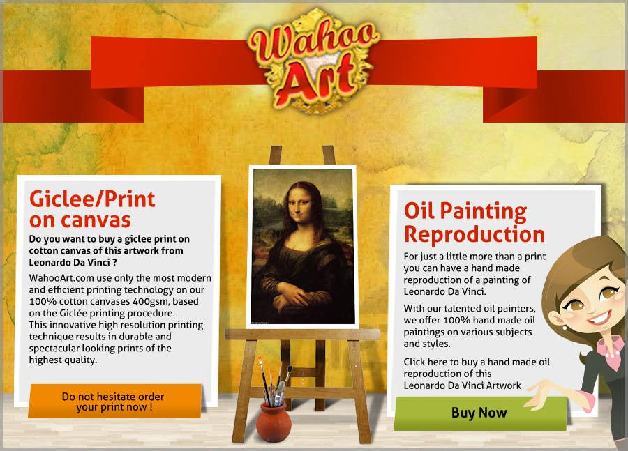 Proposition n°9 du concours Design a Banner for Selling oil paintings and Posters