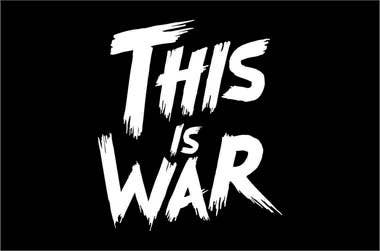 contest entry 874 for typography i need the words this is war