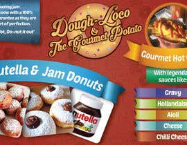 #27 untuk Design a Banner for Dough-loco & the gourmet potato 1 oleh Daiichirou