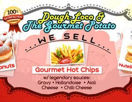 #24 untuk Design a Banner for Dough-loco & the gourmet potato 1 oleh angileij