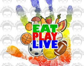 GeekyGrafix tarafından Design a Logo for EAT.PLAY.LIVE için no 18