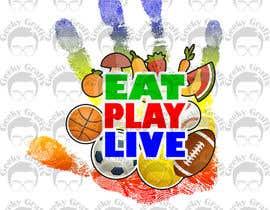 GeekyGrafix tarafından Design a Logo for EAT.PLAY.LIVE için no 19