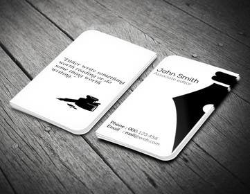 LeeniDesigns tarafından Design a Business Card for a Professional Writer. için no 16