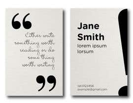 SovaDesign tarafından Design a Business Card for a Professional Writer. için no 9