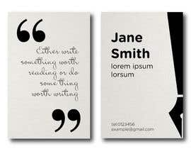 SovaDesign tarafından Design a Business Card for a Professional Writer. için no 10