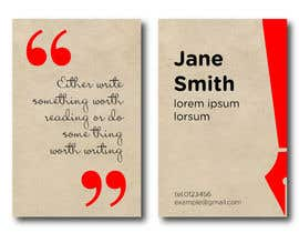 SovaDesign tarafından Design a Business Card for a Professional Writer. için no 11