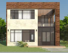 #13 untuk Redesign my house and render with a modern flat roof with parapet wall oleh biodomo