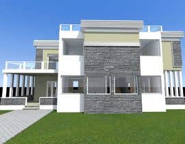 #32 untuk Redesign my house and render with a modern flat roof with parapet wall oleh maro1978