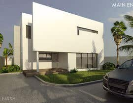 #11 untuk Redesign my house and render with a modern flat roof with parapet wall oleh artnash