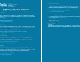 #1 untuk I need some Graphic Design for 1-Page Widow Resource Guide oleh elkholy9