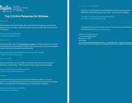 elkholy9 tarafından I need some Graphic Design for 1-Page Widow Resource Guide için no 1