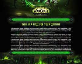arispapapro tarafından World of Warcraft: Legion - I need a website with 1 center DIV + Matching CSS için no 1