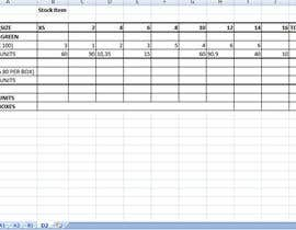 #9 for Fill in a Spreadsheet with Data for Stock List NEEDED IN 6-12 HOURS by kjayant