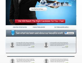 #36 for Recruitment website home page design af WebDesignze