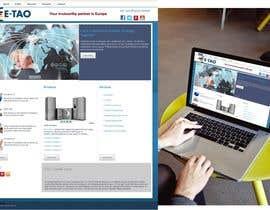 #8 untuk Design a Joomla Website Mockup for www.e-tao.eu oleh omartinez2953