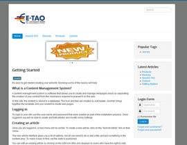 #2 untuk Design a Joomla Website Mockup for www.e-tao.eu oleh carstec