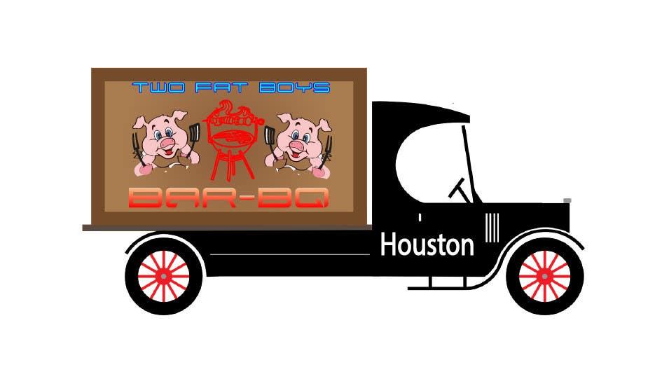 Penyertaan Peraduan #33 untuk Design a Logo for  2 Fat Boys bbq foodtruck