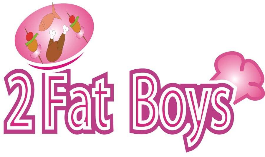 Penyertaan Peraduan #30 untuk Design a Logo for  2 Fat Boys bbq foodtruck