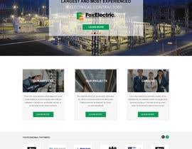 #14 untuk Design a Website Mockup for foxelectric.ca oleh webidea12