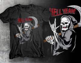 #16 untuk Funny Grim Reaper 1 Color  T-Shirt Design oleh dsgrapiko