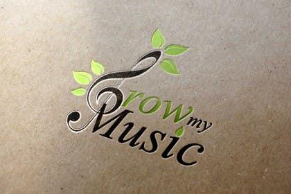 "#102 untuk Design a Logo for ""Grow my Music"" - a music education business oleh OcaDim"