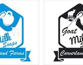 #10 untuk Design a Logo for Carverland Farms Goat Milk Soap oleh amjadawan1