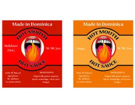 #2 untuk Create a label design for hot sauce bottle oleh baroque90