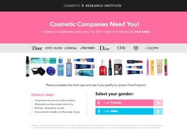 #53 untuk Design a Website Mockup for Cosmetic Research Institute oleh Nadasol