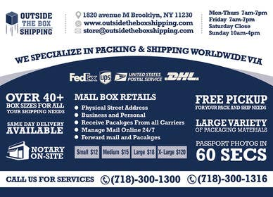 #24 untuk FLYER DESIGN: Shipping Store Services with Coupons oleh xpertsart