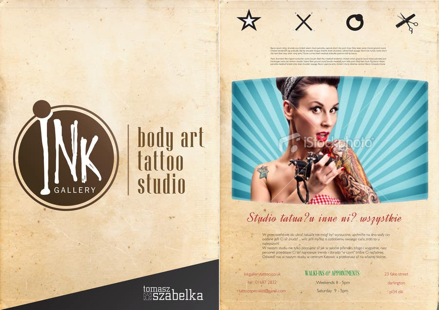 #6 for Design a Flyer for Ink Gallery by SimonMerritt