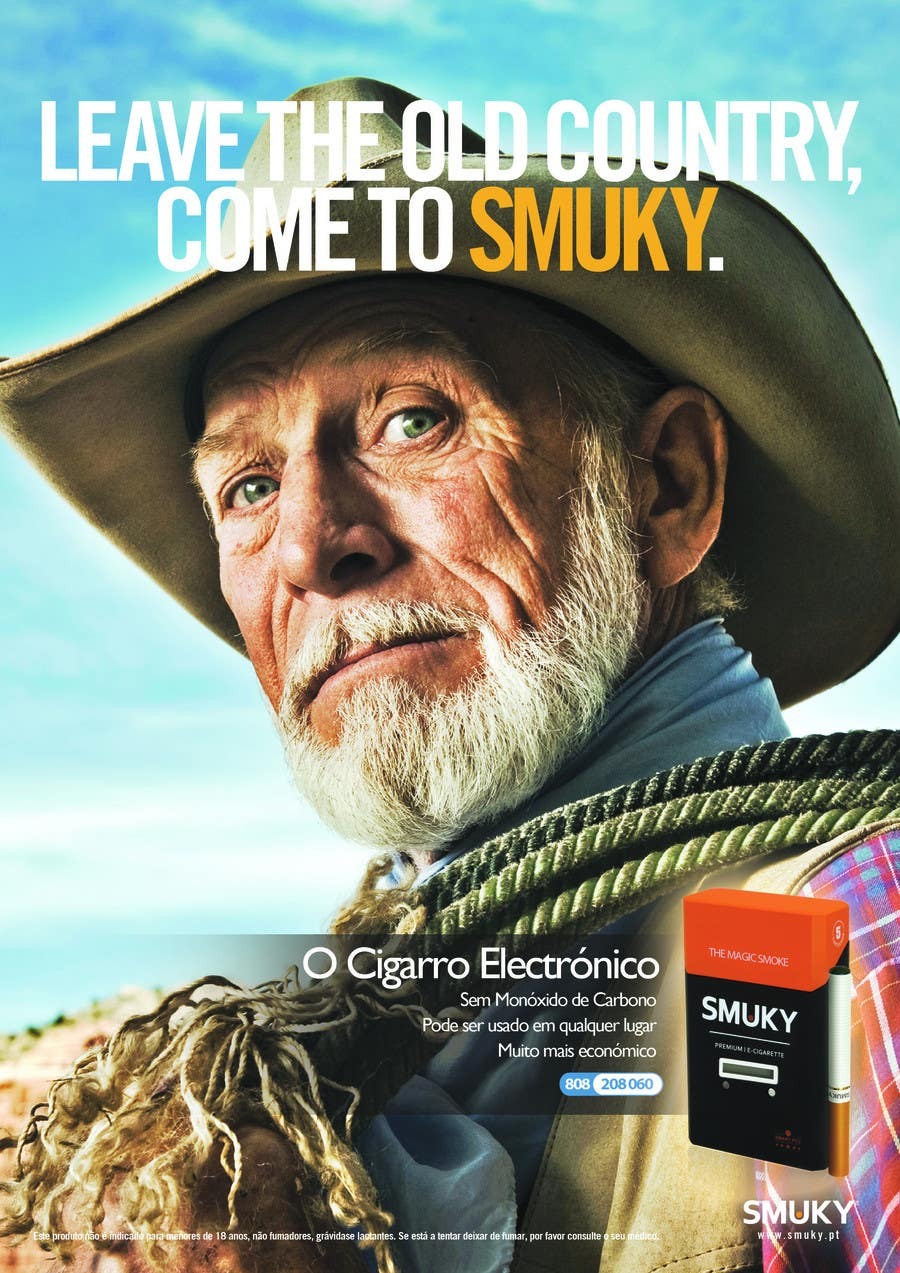 Kilpailutyö #                                        60                                      kilpailussa                                         Magazine Advertisement for SMUKY