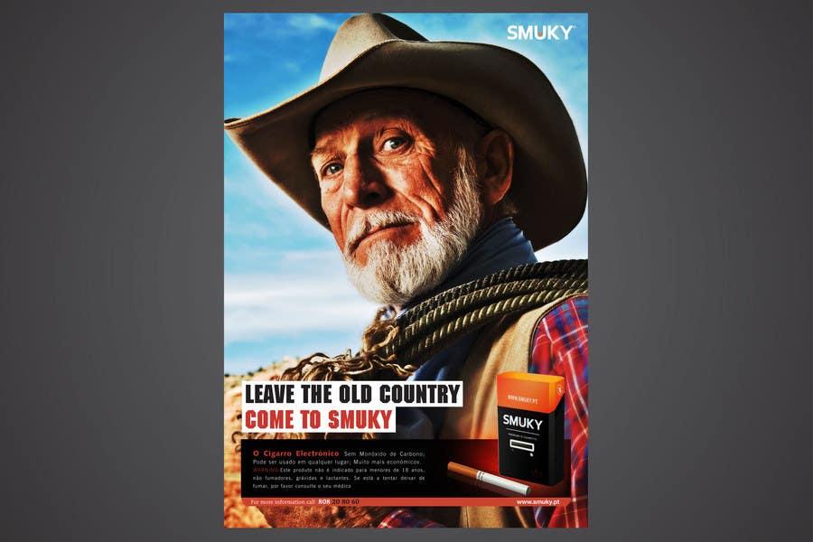 Kilpailutyö #                                        82                                      kilpailussa                                         Magazine Advertisement for SMUKY