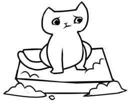 #7 untuk CatCommode Cartoon oleh margogoodall