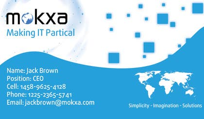 #19 for Design some Business Cards for Mokxa Technologies LLC by camsdhd01