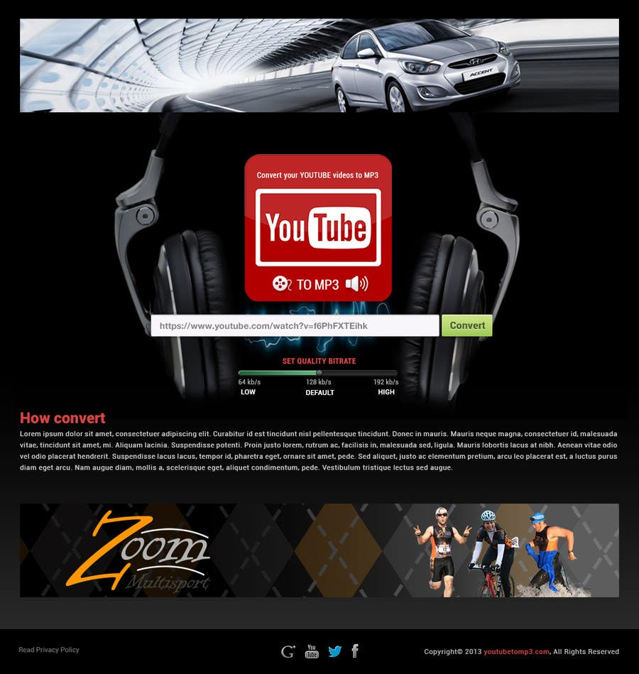 #34 for Youtube to MP3 Converter Website by hipnotyka