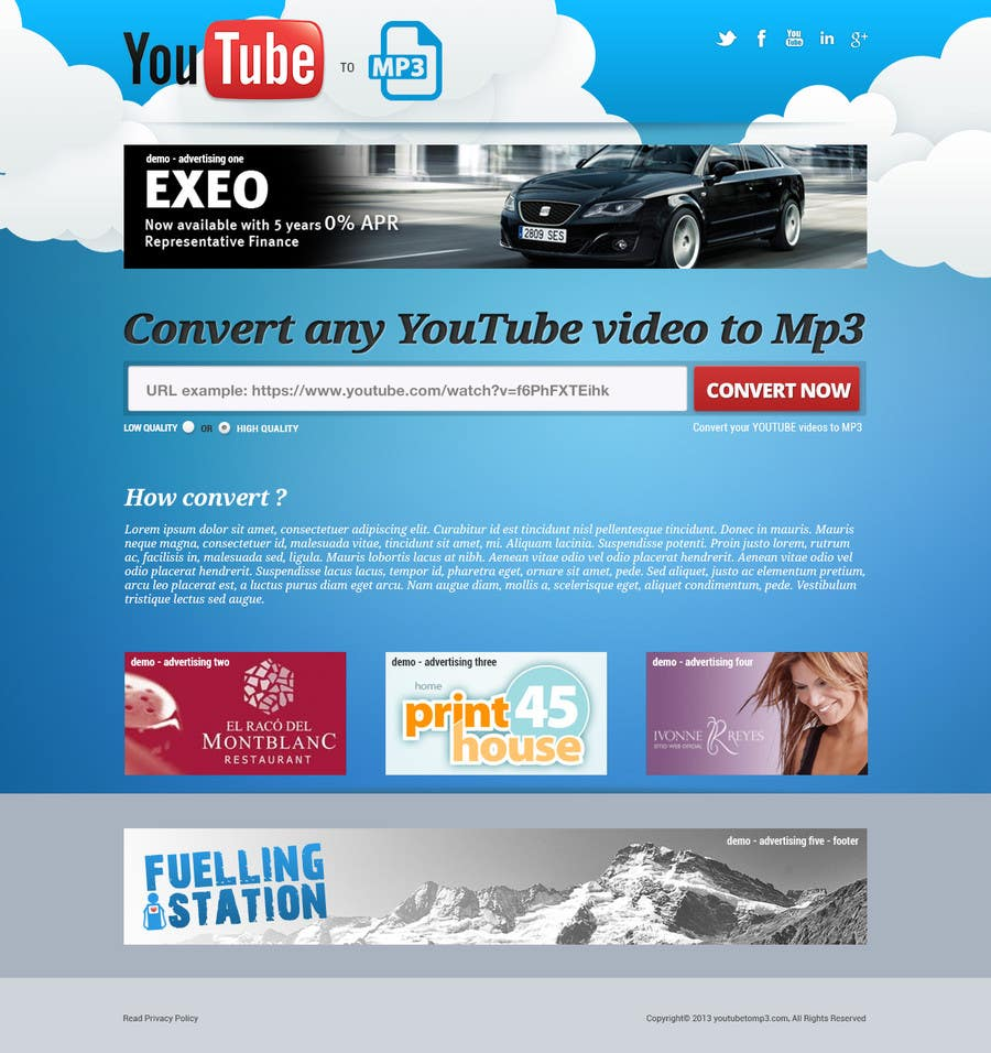 #43 for Youtube to MP3 Converter Website by hipnotyka
