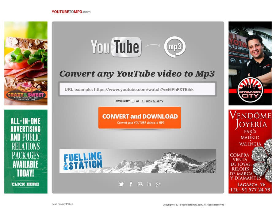 #51 for Youtube to MP3 Converter Website by hipnotyka