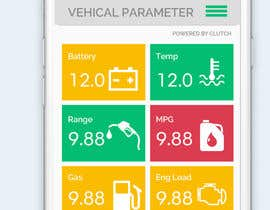 #14 untuk Design an app mock up for a screen that shows real time vehicle data oleh abhikreationz